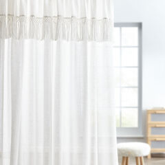 Temperance Linen Tassel Rod-Pocket Panel,