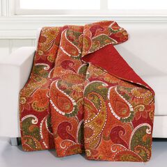 Greenland Home Fashions Tivoli Quilted Throw Blanket,