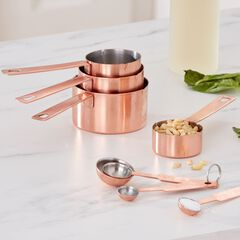 Copper Measuring Cups & Spoons Set,