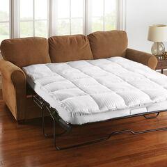Sofa Bed Mattress Topper, WHITE