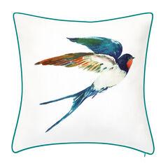 Indoor & Outdoor Watercolor Bird Decorative Pillow,