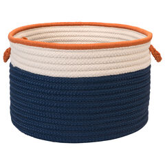 Cali Stripe Navy Isle Basket,