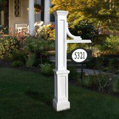 Woodhaven Address Sign Post,