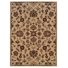 Trio Traditional Gold 8'X10' Area Rug,