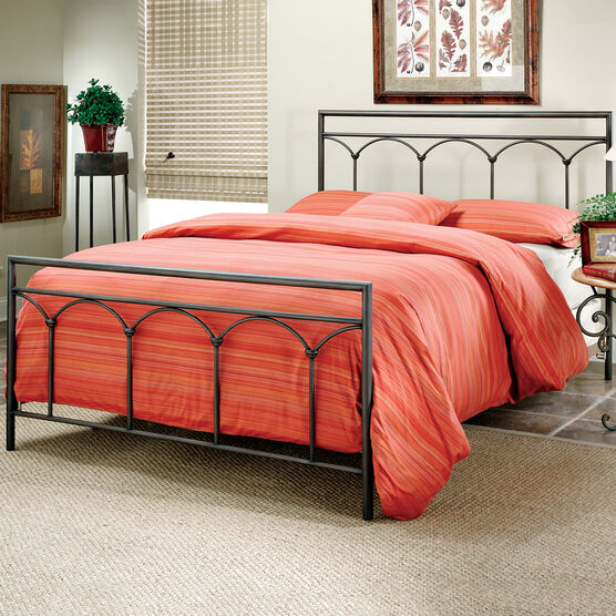"""King Bed with Bed Frame 83½""""Lx79""""Wx48""""H, SILVER"""