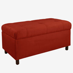 Upholstered Tufted Storage Bench in Microsuede,