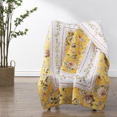 Finley Yellow Throw Blanket,