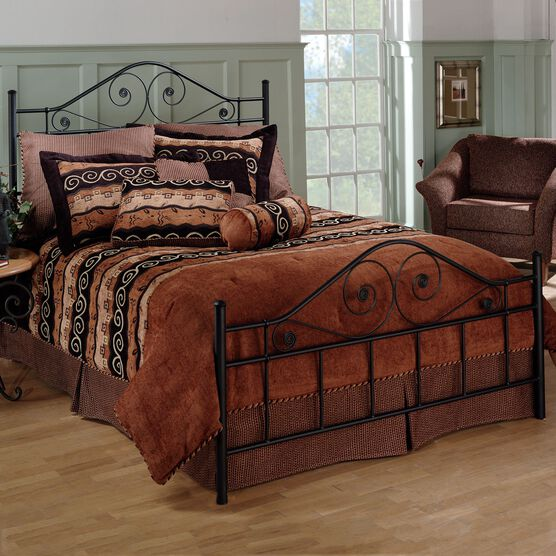 "Queen Bed with Bed Frame, 83½""Lx61½""Wx51""H, BLACK"