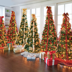 artificial christmas trees pre decorated lit pop up - Pre Decorated Pop Up Christmas Trees