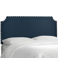 Hampden Notched Nail Button Headboard ,