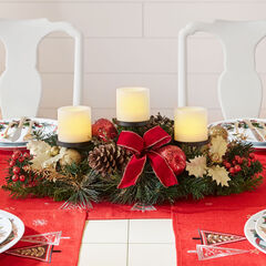 Pre-Decorated Candle Holder Centerpiece ,