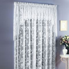 Floral Vine Rod Pocket Curtain,