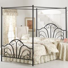 """King Bed with Bed Frame, 83½""""Lx77""""Wx81""""H,"""