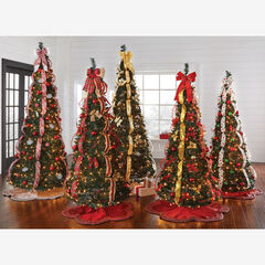 Scallop Edge Border Christmas Tree Skirt ,