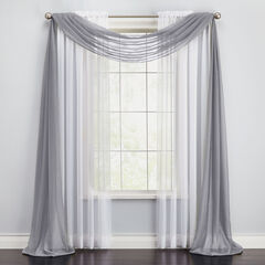 BH Studio Sheer Voile Scarf Valance, SLATE