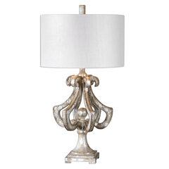 Vinadio Distressed Silver Table Lamp,