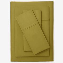 300-TC. Smooth Wrinkle-Resistant Cotton Sheet Set, SAGE