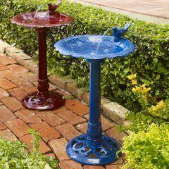 Levine Resin Bird Bath Fountain,