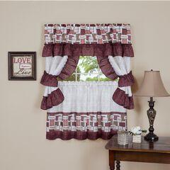 Inspiration Cottage Window Curtain Set, SPICE