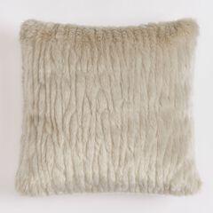 Textured Faux Fur 18' Sq. Pillow ,
