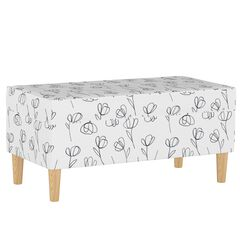 Contoured Tulips Storage Bench,