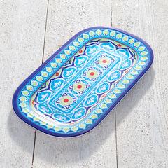 Blue Casab Blue Rectangular Platter,