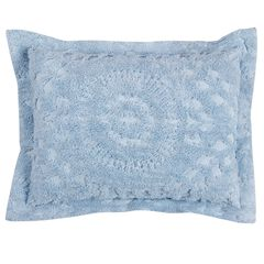 Rio Collection Tufted Chenille Sham by Better Trends, BLUE