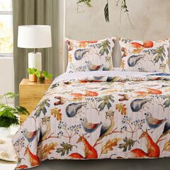 Barefoot Bungalow Willow Quilt and Pillow Sham Set,