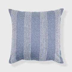 Euro Stripe Textured Throw Pillow,