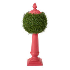 Ball Topiary Column, PINK