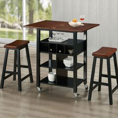 Kitchen Island and Stools Set,