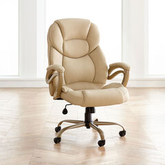 Extra Wide Memory Foam Office Chair, TAN