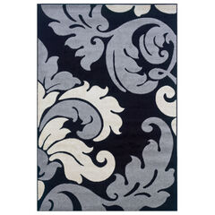 Corfu Black 5'X8' Area Rug,