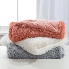 Lola Shaggy Throw & Backrest Pillow,