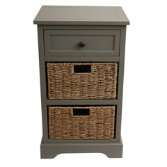 Antique 2 Drawer with 2 Baskets,