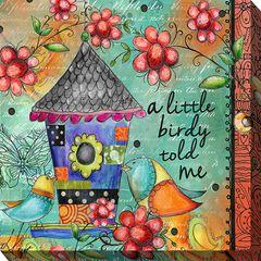 LITTLE BIRDY OUTDOOR ART 24X24,