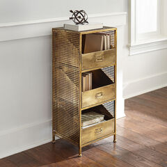 Maeve 3-Drawer File Storage, ANTIQUE BRASS