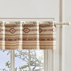 Phoenix Tan Window Valance by Barefoot Bungalow,