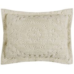 Rio Collection Tufted Chenille Sham , IVORY