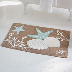Coastal Shell Bath Mat,