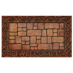 "Raised Rubber Mat 18"" x 30"", BRICK STONE"
