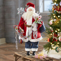 Santa Holding Garland,