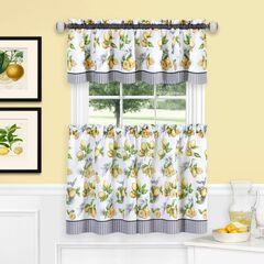 Lemon Drop Tier and Valance Window Curtain Set,