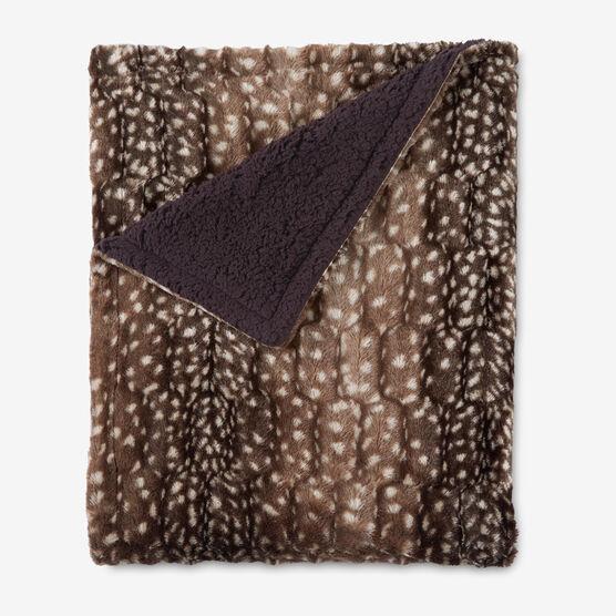 Faux Fur Animal Print Throw,