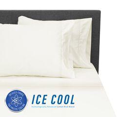 SensorPEDIC Ice Cool 400 Thread Count Cotton-Rich Cream Sheet Set,