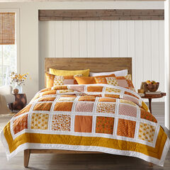 Suma Patchwork Quilt, ORANGE GOLD
