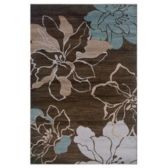 Milan Chocolate/Aqua 5'X8' Area Rug,