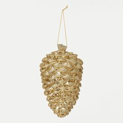 Champagne Pinecone Ornament ,