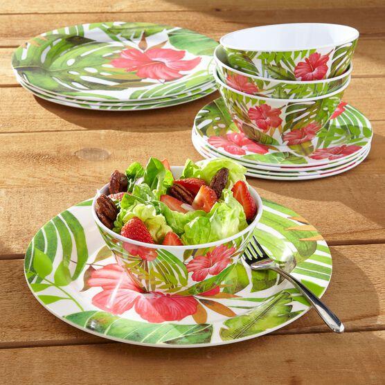 Hibiscus 12-Pc. Dinnerware Set, MULTI