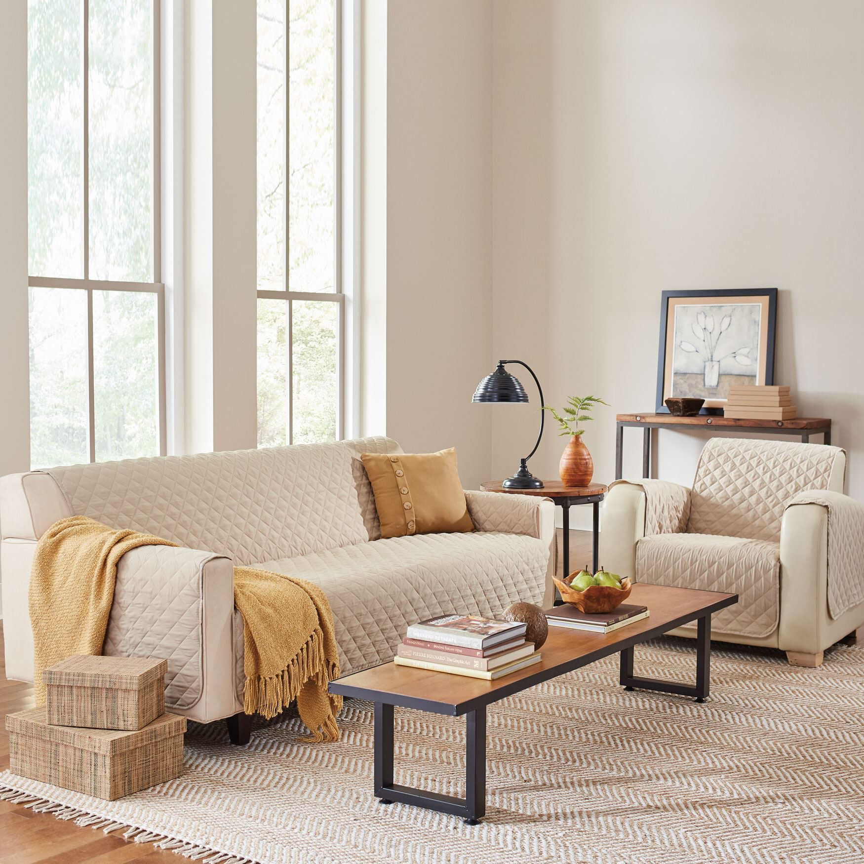 Charmant BH Studio® Water Repellent Microfiber Sofa Protector,